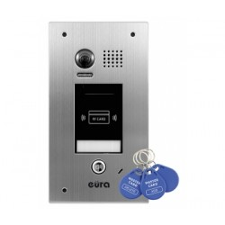 VDA-72A5 v.2 EURA Kaseta zewnętrzna wideodomofonu podtynkowa breloki zbliżeniowe