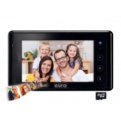 VDA-41A5 EURA Monitor wideodomofonu 7 cali dotykowy z pamięcią czarny