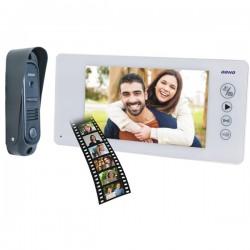 OR-VID-JS-1040/W ORNO ARCUS MEMO Zestaw wideodomofonowy 7 cali pin hole BIAŁY