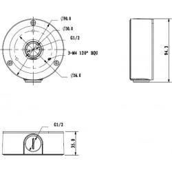 PFA134-BLACK DAHUA Adapter uchwyt montażowy do kamer