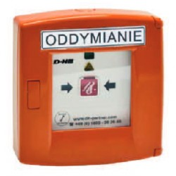 RT 45 D+H POLSKA Przycisk oddymiania aluminiowy w kolorze pomarańczowym